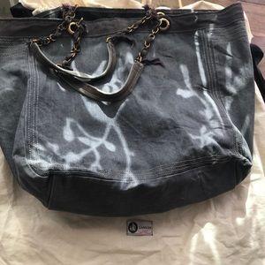 Lanvin Paris Large Denim Shopping Bag w/ Dustbag
